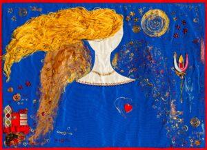 SI MESSERET POSSIBILE DANGHELU 2011 tecnica mista polimaterica su stoffa cm 64 X 89 Ciclo No poto riposa Fotografia Giulia Arantxa Novelli