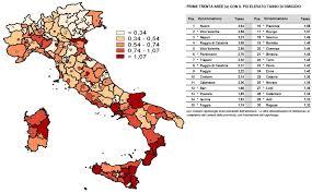 Numurus de bocidorgius in Italia in su 2018