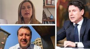 Conte atacat, Meloni e Salvini arrespundint