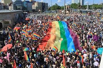 361px Gay pride Istanbul at Taksim Square
